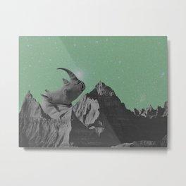Rhino Mountain mint Metal Print