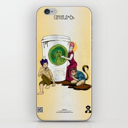 Caffiends: The Aficionado, the Cat, and the Spaz iPhone Skin
