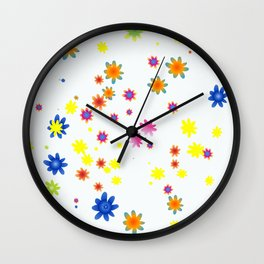 Oh Flowers! Wall Clock
