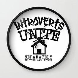 Introverts Unite! Wall Clock