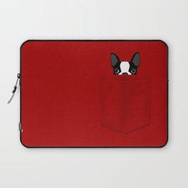 Pocket Boston Terrier Laptop Sleeve
