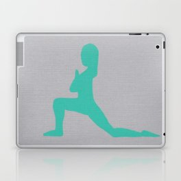 Screen printed Yoga Art - Anjaneyasana  - Low Lunge - Wild Veda Laptop & iPad Skin