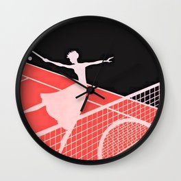 """Love – Tennis"" Art Deco Design Wall Clock"