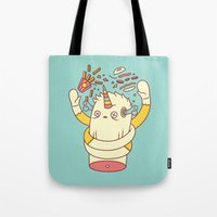 junk food Tote Bags featuring junk food kills by failuretalent