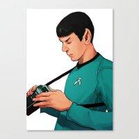 spock Canvas Prints featuring Spock by Whitney Salgado