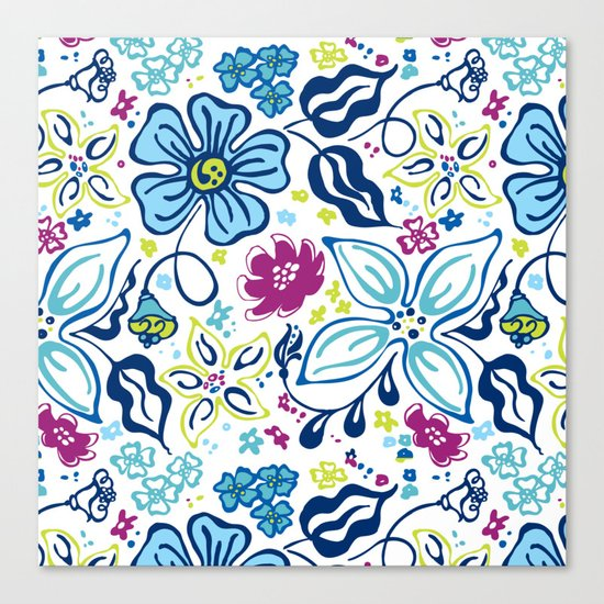 Fling Flowers Canvas Print