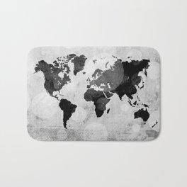 World map - desaturated Bath Mat