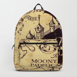 yellow map Backpack