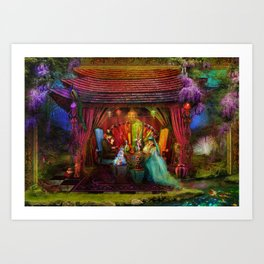 A Mad Tea Party Art Print