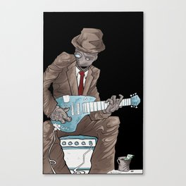 In the Future, Even Droids Sing the Blues Canvas Print
