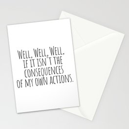 Well Well Well  Stationery Cards