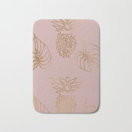 Gold Tropical Bath Mat