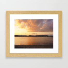 Sunset Over the Viaduct Framed Art Print