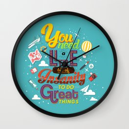Art and Insanity Wall Clock