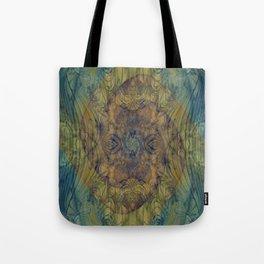 Mayan Shadows- Abstract Art- Watercolor Art- Blue Art- Brown Art- Ocean- Water Tote Bag