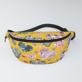 Heart Diamonds are Forever Love Yellow Fanny Pack