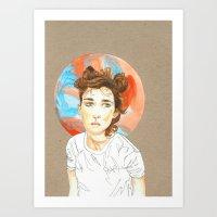 plain Art Prints featuring Plain Jane by Kim Wells
