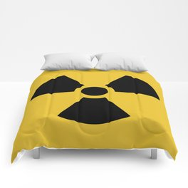 Radiation Hazard Symbol Comforters
