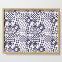 Spanish Tiles of the Alhambra - Violets Serving Tray