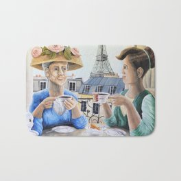 Tea Time in Paris Bath Mat