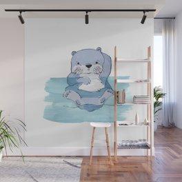 Kick Back Otter Wall Mural