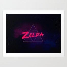 Zelda Synthwave Art Print