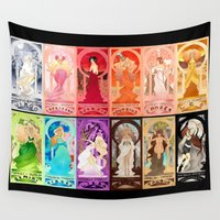 zodiac Wall Tapestries featuring Zodiac Collection by Sprat