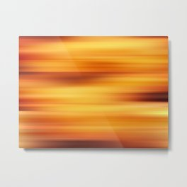 Abstract background blur motion sun stripes Metal Print
