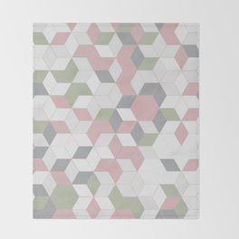 modern tiles Throw Blanket