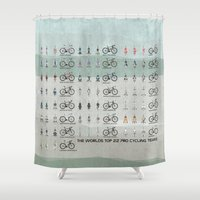 cycling Shower Curtains featuring Pro Cycling Teams by Wyatt Design