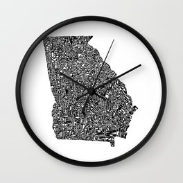 Typographic Georgia Wall Clock