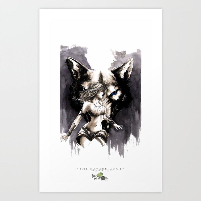 Corora Wolf Art Print
