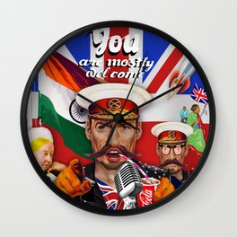 Mostly Welcome Wall Clock