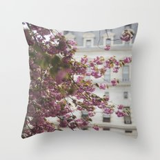 City Hall Courtyard Throw Pillow