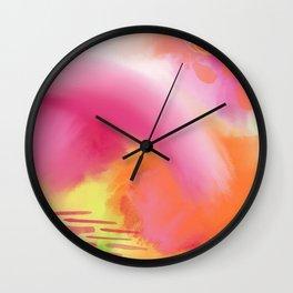Summer Love 1 - vibrant abstract Wall Clock