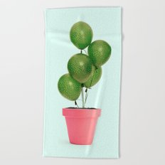CACTUS BALLOON Beach Towel