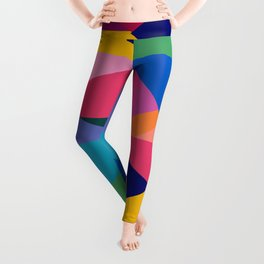 Geometric Color Block Leggings