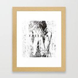 Feed on the powerless 1991 Framed Art Print