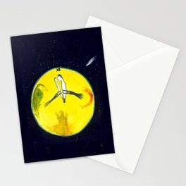 Trying to stop time - Painting by Tony King Stationery Cards