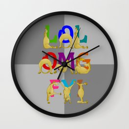 Cute Ponies LOL OMG FYI Wall Clock