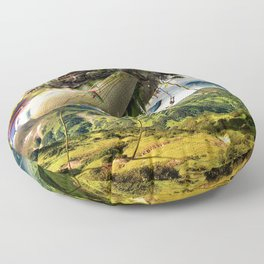 Fleeing Creativity (surreal) Floor Pillow