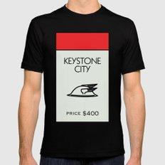 Keystone City Monopoly Location Black Mens Fitted Tee MEDIUM