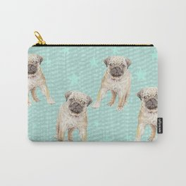 Watercolor Pug Puppy Carry-All Pouch