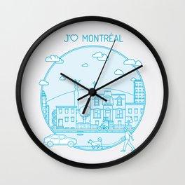 Je t'aime Montréal Wall Clock