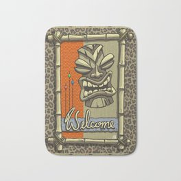 WELCOME TIKI Bath Mat