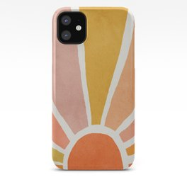 Sun, Mid century modern kids wall art, Nursery room iPhone Case