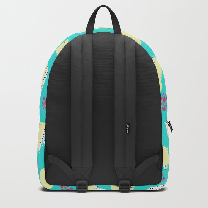 Pattern summer leaf & pineapple Backpack