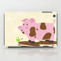 pig iPad Cases featuring Pig by Claire Lordon
