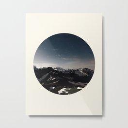 Mountain Starry Night Metal Print