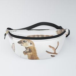 cute animals watercolor collection Fanny Pack